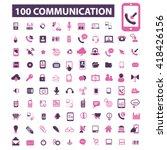 communication icons  | Shutterstock .eps vector #418426156