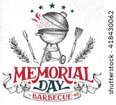 memorial day barbecue holiday... | Shutterstock .eps vector #418430062