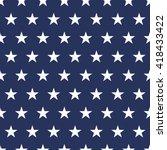 usa  flag seamless pattern.... | Shutterstock .eps vector #418433422