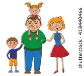 portrait of happy family....   Shutterstock .eps vector #418440466