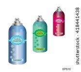 hygienic body spray.photo... | Shutterstock .eps vector #418441438