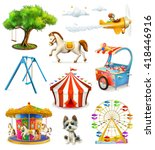 children playground  vector... | Shutterstock .eps vector #418446916