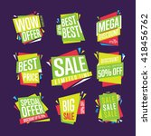 special offer sale tag discount ... | Shutterstock .eps vector #418456762