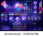 business infographics set with... | Shutterstock .eps vector #418456786