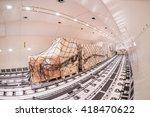 inside cargo freighter | Shutterstock . vector #418470622