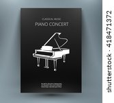 Grand Piano Music Media Design...