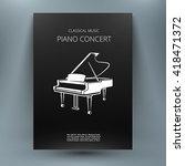 Grand Piano Music Media Design...
