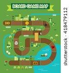 board game map vector...   Shutterstock .eps vector #418479112