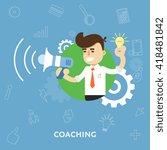 coaching concept. coach mentor. ... | Shutterstock .eps vector #418481842