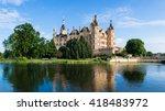 schwerin castle  schwerin ... | Shutterstock . vector #418483972