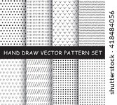 hand drawing vector pattern set | Shutterstock .eps vector #418484056