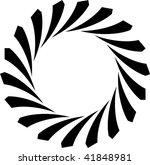 circular black design | Shutterstock .eps vector #41848981