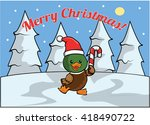 merry christmass banner with... | Shutterstock .eps vector #418490722