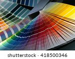 close up of color guide spread... | Shutterstock . vector #418500346