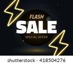 vector flash sale design with... | Shutterstock .eps vector #418504276