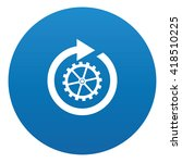 refresh icon design on blue...