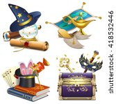 vector magic concept icons | Shutterstock .eps vector #418532446