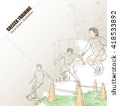 illustration of soccer training.... | Shutterstock .eps vector #418533892