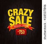 crazy sale special offer... | Shutterstock . vector #418537846