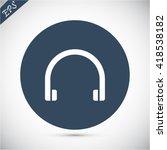 headphones  vector icon | Shutterstock .eps vector #418538182