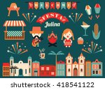 latin american holiday  the...   Shutterstock .eps vector #418541122