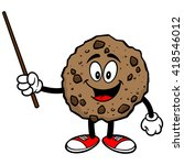 chocolate chip cookie with a... | Shutterstock .eps vector #418546012