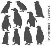 penquin silhouettes | Shutterstock .eps vector #41854936