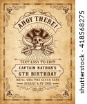 Vintage Looking Invite Templat...