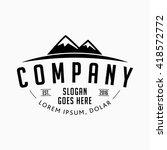 mountain company logo. vector... | Shutterstock .eps vector #418572772