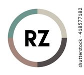 rz letters  four colors in...   Shutterstock .eps vector #418577182