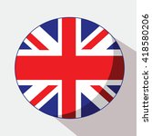 united kingdom flag round icon... | Shutterstock .eps vector #418580206