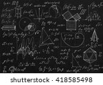 math geometry formulas on black ... | Shutterstock . vector #418585498