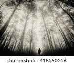 silhouette of man walking in... | Shutterstock . vector #418590256