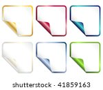 set of square stickers | Shutterstock .eps vector #41859163