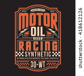 motor oil racing typography  t... | Shutterstock .eps vector #418612126