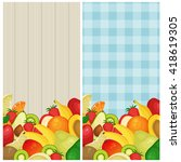 Two Vertical Banners With Fresh ...