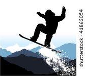 snowboarding | Shutterstock .eps vector #41863054