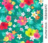 seamless floral  background.... | Shutterstock .eps vector #418646692