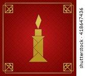 tangram candle light  object.... | Shutterstock .eps vector #418647436