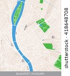 vector color map of budapest ... | Shutterstock .eps vector #418648708