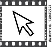 cursor sign icon  vector... | Shutterstock .eps vector #418650328
