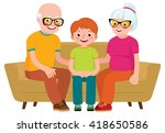 family portrait of a... | Shutterstock . vector #418650586