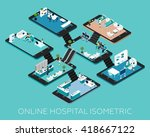 online hospital isometric...