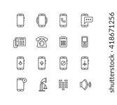 phone  telephone  smartphone... | Shutterstock .eps vector #418671256
