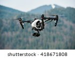White Drone With Digital Camera ...