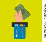 electronic commerce design  | Shutterstock .eps vector #418682986