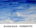 hand drawn oil painting.... | Shutterstock . vector #418684192