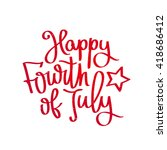 happy 4th of july. the trend... | Shutterstock .eps vector #418686412