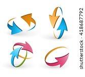 volume set of cursors  vector... | Shutterstock .eps vector #418687792