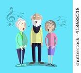 vector illustration of happy... | Shutterstock .eps vector #418688518